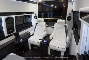 Custom White Interior Seating